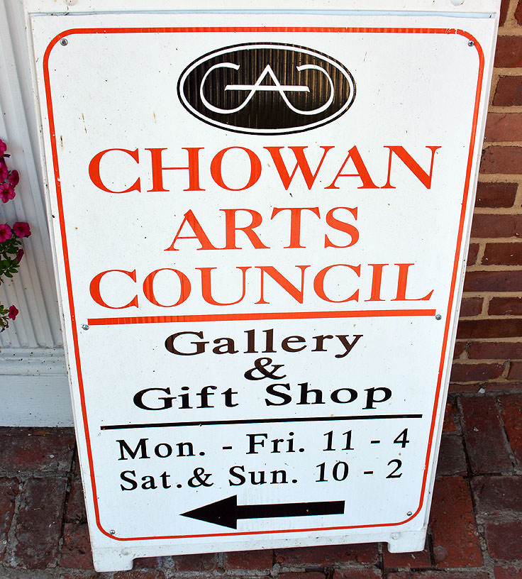 Gallery and Shop sign, Chowan Arts Council, Edenton, NC