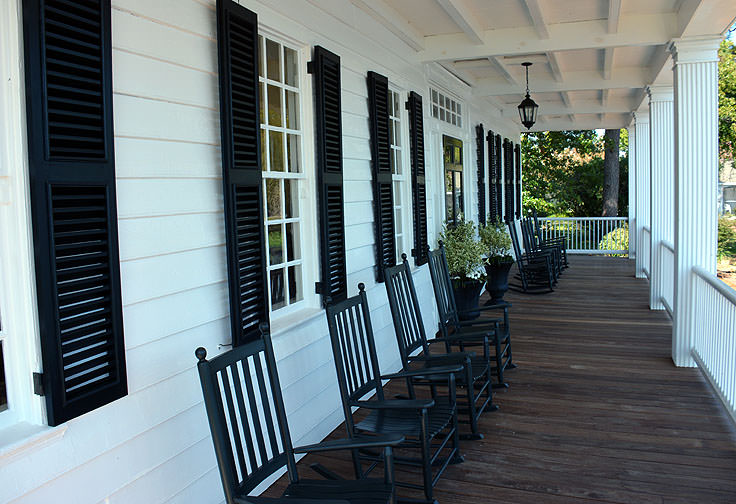 Porch chairs outside the Barker House in Edenton, NC